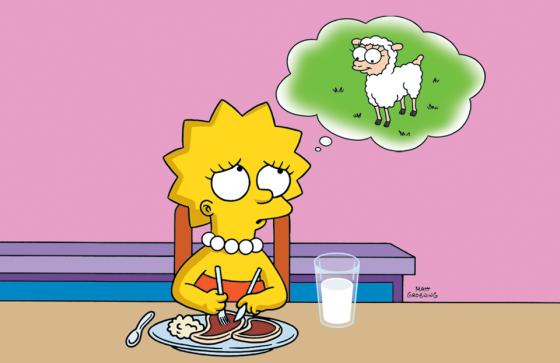 Lisa Simpson the vegetarian