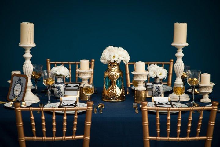 Wedding Theme Navy Muted Gold Peoniesandpancakes
