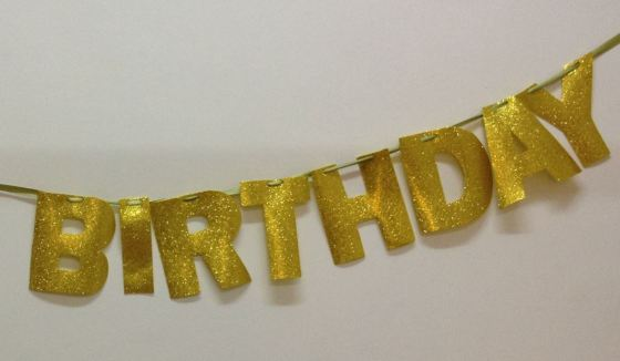 DIY Happy Birthday Glitter Banner 5