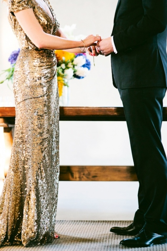gold sparkly wedding dress2