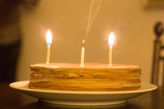 Nutella Mille Crepe + Trick Candles