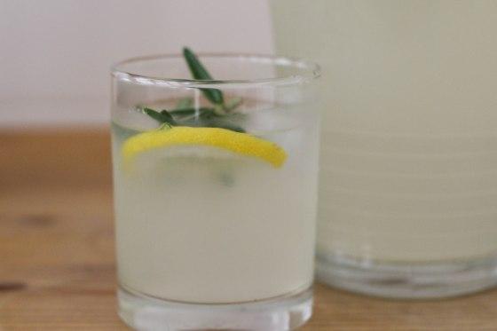 rosemary lemonade glass