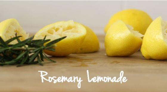 rosemary lemonade squeezed lemons