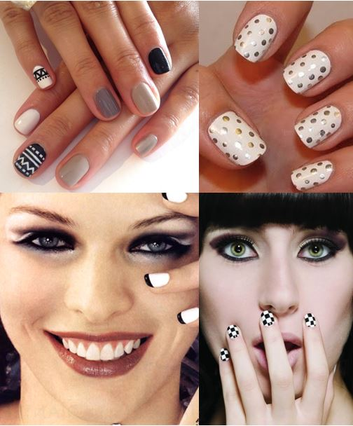 white nail polish art
