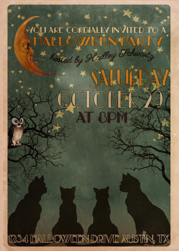 10 awesome halloween invitations