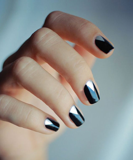 Black Nail Art: Peoniesandpancakes