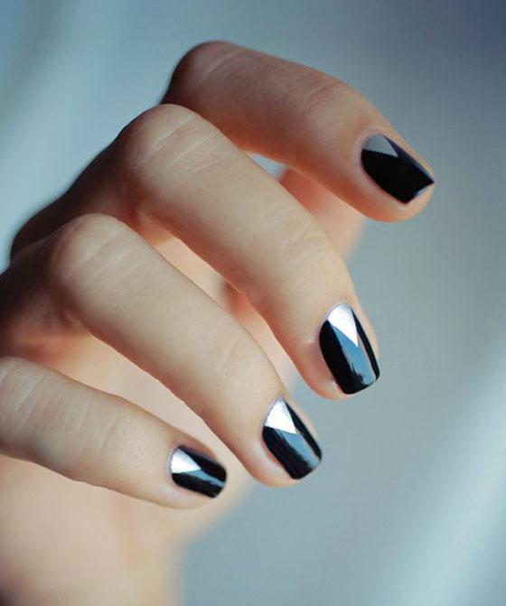 black-and-silver-nail-art