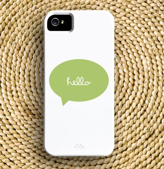 cursive hello iphone cover