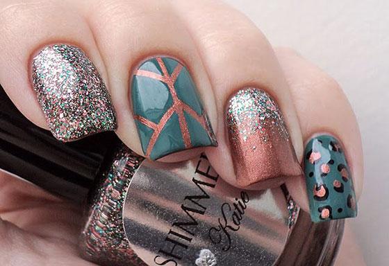 glittery-nail-art