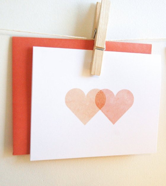 hearts on a card