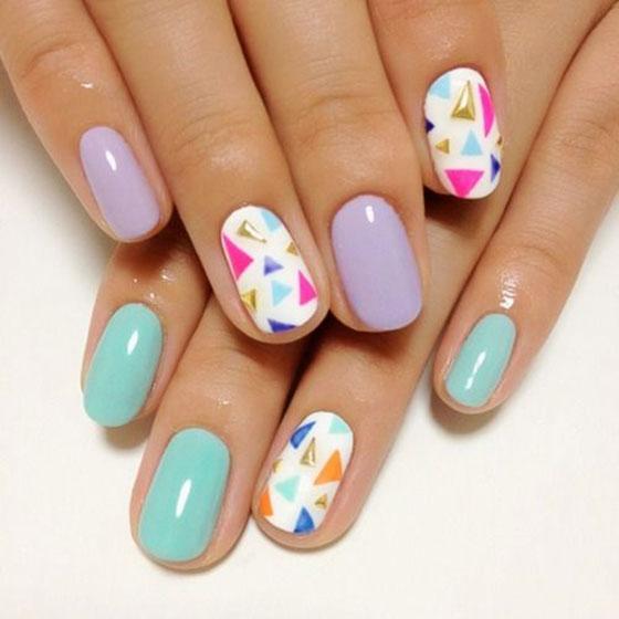 triangle-nail-art