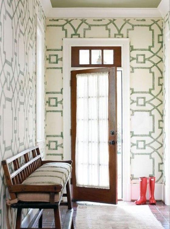 stenciled-entryway